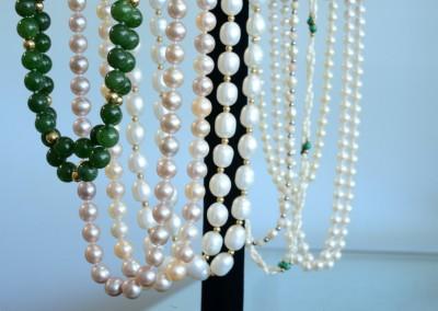 vintage antique pearl necklaces