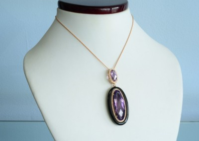 vintage purple necklace at st. matthews jewelers in Louisville