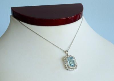 blue diamond necklace in Louisville